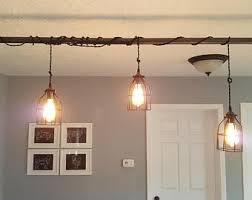 industrial pipe lighting. Rustic Industrial Lighting Chandelier, Farm House Chandelier Edison Bulb Iron Pipe Ceiling Light- Modern U