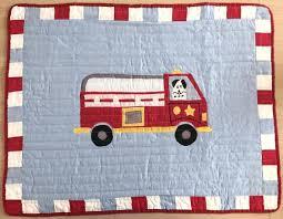 geenny fire truck crib bedding designs