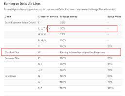 Delta Fare Chart Earning Alaska Miles On Deltas Comfort Plus Class