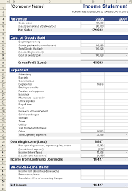Samples Of Profit And Loss Statements For Small Business Income Statement Template For Excel