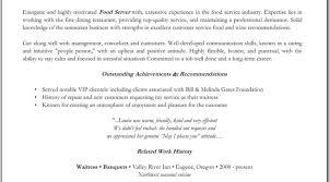 Objective For Bartender Resume Best Bartending Server Bartender