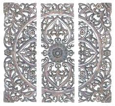 wood wall medallion decorative art tiles unique white medallions