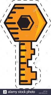 door lock and key cartoon. Cartoon Key Door Lock Image And