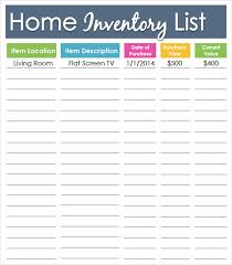 Property Inventory Template Free Download Sample Inventory List Template 9 Free Documents Download In Word