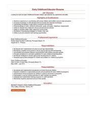 Early Childhood Resume Delectable Resume For Early Childhood Education Colbroco