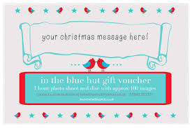 Personalised Gift Vouchers Templates Christmas2013 Gift Voucher Template In The Blue Hut