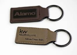 personalized rectangular keychain engraved leather keychains available in two colors