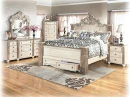 Distressed White Bedroom Furniture Modern Look Washed