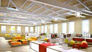 cool open office space cool office. Fourth Floor Rendering Of Building E With Original Architecture. Find This Pin And More On Workplace Open Office Cool Space O