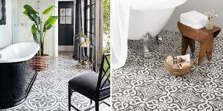 patterned tiles bathroom floor