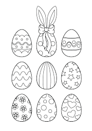 Easter Egg Designs Coloring Pages Coloring Pages For Kids On