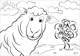 Eid Mubarak Lamb Coloring Page Free Printable Coloring Pages