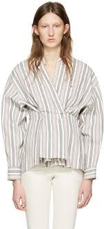 isabel marant ecru striped silvia blouse women isabel marant shoes barneys fashionable design