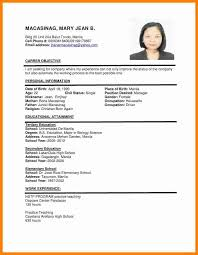 Resume Example In The Philippines Resume Ixiplay Free Resume Samples