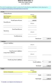 basic balance sheet sample balance sheet