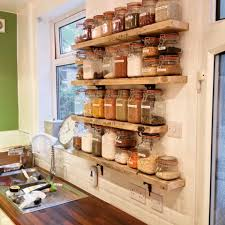 Upcycled Kitchen Kilner Jar Storage Shelves From Old Scaffold Boards And Cast Iron