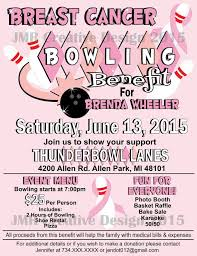 Flyers For Fundraising Events Breast Cancer Bowling Benefit Flyer Bowling Benefit Flyer