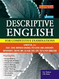 descriptive english for all competitive examinations by b k  descriptive english for all competitive examinations
