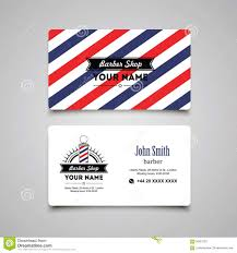 barbershop business cards hair salon barber shop business card design template stock vector