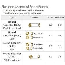 Seed Bead Size Chart Miyuki Seed Beads 8 0 Opaque Series 10 Grams Tube 446 601p
