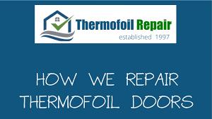 Thermofoil Cabinet Door Repair Youtube