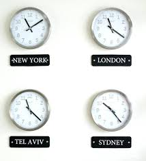 time zones wall clock multi time zone wall clock how to make a world clock wall