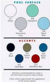 pool paint colorsRamuc Pool Paint Color Chart  Parrish Pools USA