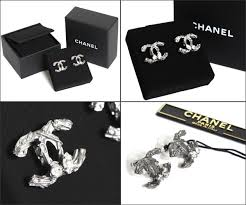 chanel earrings price. chanel chanel earrings coco mark a63237-y02003 gunmetal bijoux price
