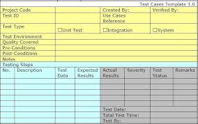 Software Test Case Template Test Case Template For Unit Test Integration Test And System Test
