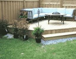 six small garden decking ideas on a