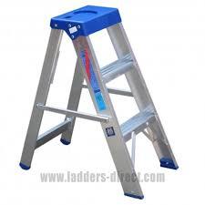 aluminium step ladder. ABS3 Aluminium Step To BS2037 Class 1 Ladder