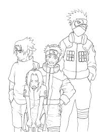 Image Result For Naruto Kakashi Coloring Page Drawing Anime