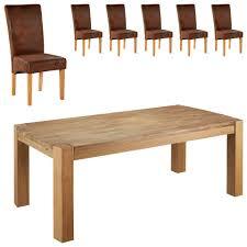 Essgruppe Goliathtom 100x200 6 Stühle Antik Braun