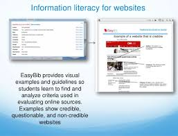 easybib student tutorial  16 information literacy for websites easybib