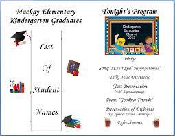 Graduation Program Template Pdf Printable Blank Preschool Graduation Program Great Home Inteiror