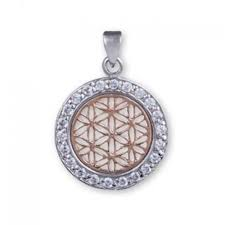 sacred geometry pendant sterling silver rose gold plated