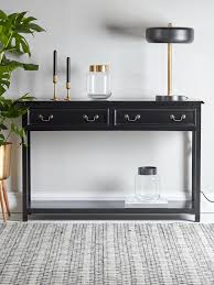 slim hall table. black wooden console table slim hall l