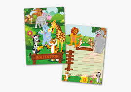 Jungle Theme Birthday Invitations 20 Kids Party Invitation Cards Jungle Animals Themed
