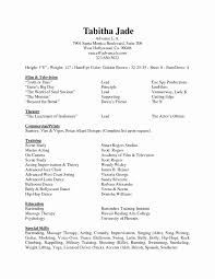 Acting Resume Special Skills Examples Acting Resume Sample Fresh Resume Special Skills Examples Examples 2