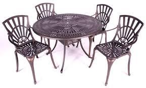 Garden Table Set BEATRICE Grey  8 Person Aluminium U0026 Glass Aluminium Outdoor Furniture
