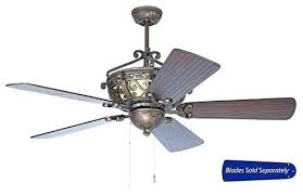 oiled bronze gilded ceiling fan with inch walnut blades and integrated craftmade