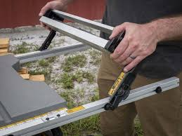 dewalt table saw 7480. best portable jobsite table saw shootout -dewalt dwe7499gd fence dewalt 7480