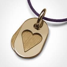 corazon i heart pendant in 18k yellow gold
