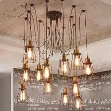 47 types remarkable beautiful diy industrial chandelier home decor ideas aisini edison multiple ceiling spider lamp light pendant lighting shade wood