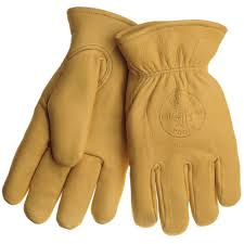 lined cowhide large work gloves