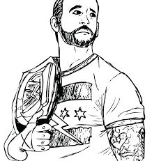 Wwe Colouring Pages Championship Wwe Coloring Pages Randy Orton