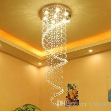 dimmable modern crystal chandeliers high end k9 crystal ceiling chandelier pendant light living room bedroom staircase hotel hall villa