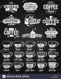 Menu Drawing Design Coffee Label Logo And Menu Chalk Drawing Template For Your