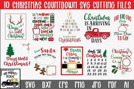 Home graphics free christmas quotes design bundle. Free Svg Christmas Svg Bundle With 10 Christmas Countdown Cut Files Download Free Svg Files Creative Fabrica