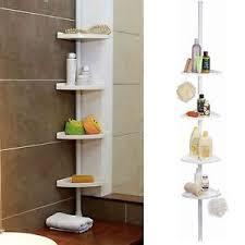 Telescopic Shower Corner Shelves 100 Tier Adjustable Telescopic Corner Rack Shower Bathroom Shelf 10